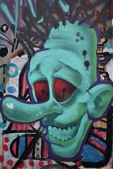 Graffiti, Green, Paint, Wall, Grunge, Colorful, Spray