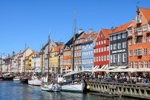 Copenhagen, Denmark, Nyhavn, Capital, Landmark, Boats