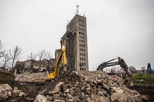 Building, Demolition, Architecture, Old, Destroyed