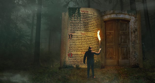Photoshop, Book, Fantasy, Mysterious, Dark, Man, Creepy