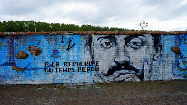 Wall, Graffiti, Face, Surreal, Eyes, Fantasy, Portrait