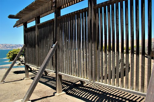 Fence, Wood, Structure, Slats, Boards, Weathered