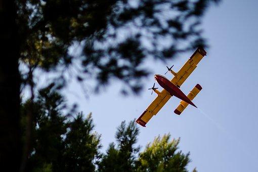 Fire, Plane, Croatia, Dalmatia, Safety, Airplane