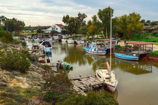 Fishing Boats, Dock, Fishing Shelter