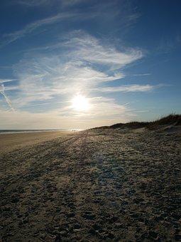 Beach, Foot, Prints, Sand, Barefoot, Footprint, Journey