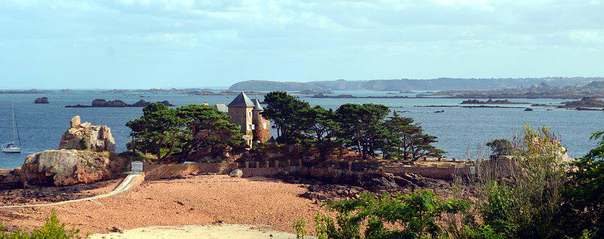 Panorama, Bréhat, Rocks, Island