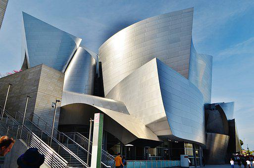 Walt Disney Concert Hall, La, California, Usa, America