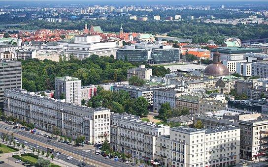 Landscape, Urban, City, Aerial View