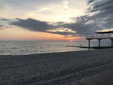 Sea, Sky, Nature, Sunset, Sun, Horizon, Beach, Coast