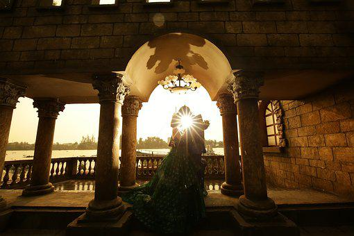 Sunset, Castle, Bridge, Prague, Night