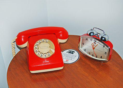 Rotary Dial, Telephone, Old, Vintage, Analog