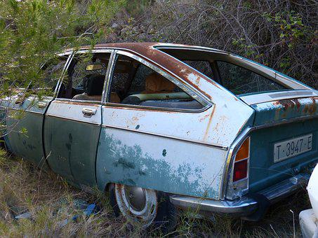 Car, Old, Citroen Gs, Seventy, Oxide, Worn, Grunge
