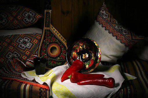 Red Pepper, Pandora, Bowl, Still Life On The Bed