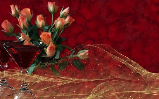 Wish, Holiday, Celebration, Red, Background, Postcard