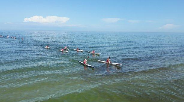 Kayak, Boat, Sea, Water, Sport, Paddle, Wave, Regatta