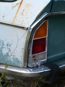 Car, Old, Detail, Citroen Gs, Seventy, Rear Light