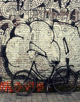 Street, Bike, Amsterdam, City, Road, Urban, Vintage