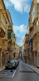 Malta, Valletta, Street Of Valletta