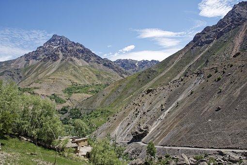 Tajikistan, Bergdorf, Village, šingtal, Valley