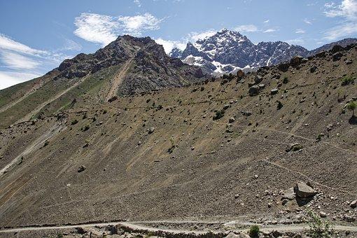 Tajikistan, Šingtal, Valley, Landscape