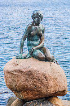 Copenhagen, Denmark, Mermaid, The Sea Maid, Monument