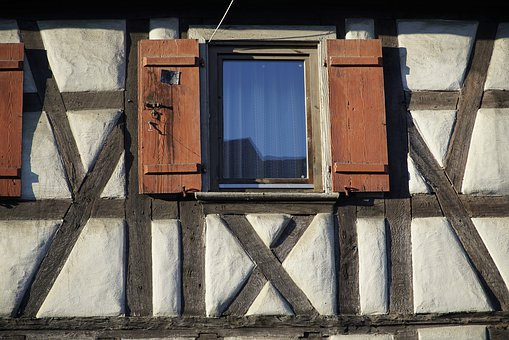 Timber, House, Medieval, Old, Window
