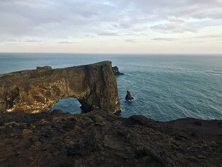 Iceland, Island, Ocean, Cold, Cliff, Rocky, Travel