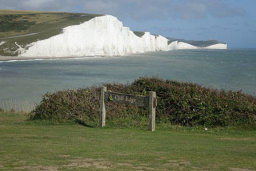 Seven Sisters, White Cliffs, Sea, England, Landscape