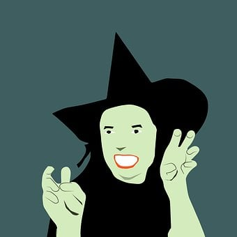 Costume, Green, Skin, Spooky, Witch
