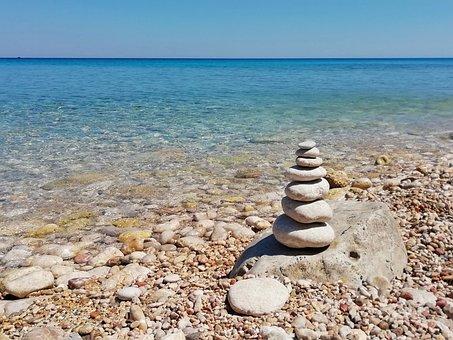 Sea, Sassi, Zen, Horizon
