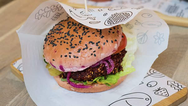 Burger, Veggie Burger, Beetroot, Food, Vegetarian