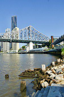 Bridge, Brisbane, Steel, Span, Brisbane-river