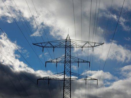 Electricity, Landline, Sky, Pylon, Cable