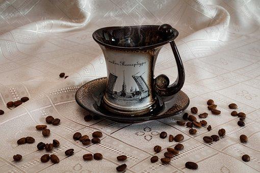 Coffee, Cup, Grain, Caffeine, Hot, Aroma