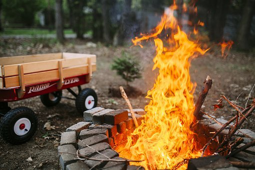 Fire, Camp, Camping, Campfire, Bonfire, Tent, Outdoor