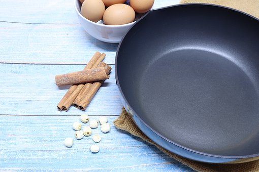 Pan, Cinnamon, Chicken, Eggs, Food, Eat, Egg, Blue Food