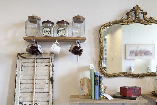 Antique, Jars, Mirror, Old, Container, Vintage, Urn