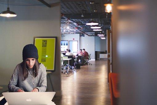 Woman, Laptop, Coworking, Entrepreneur, Girl, Startup