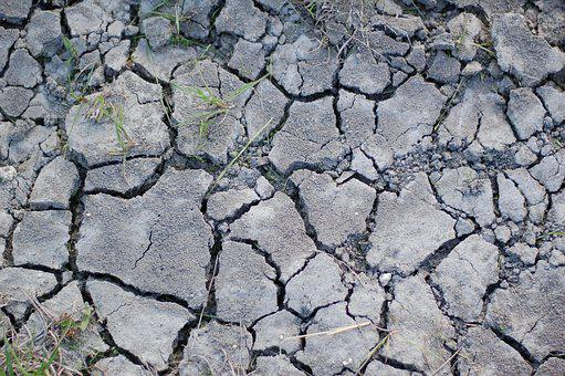 Cracks, Dry Ground, Drought, Dirt