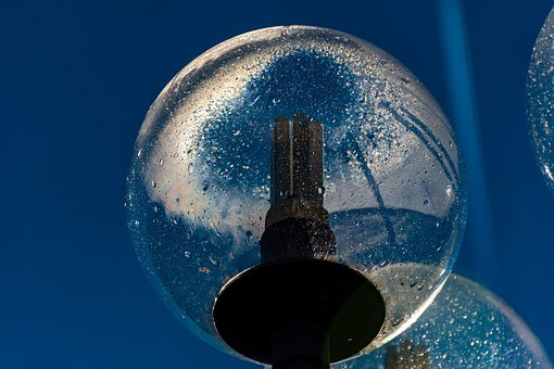 Fragment, Street Lamp, Electrical, Water Droplets