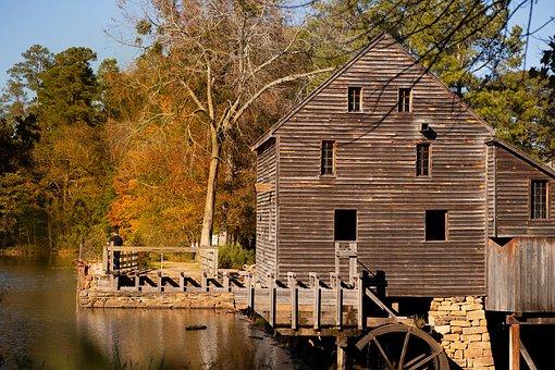 Mill, Fall, Scenic, Autumn, Outdoors, Park, Landmark