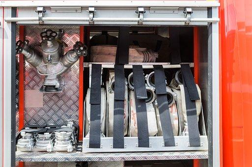 Fire, Firefighter, Pipe, Roll, Fire Hose