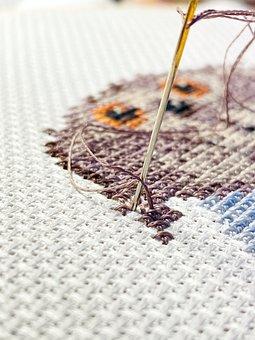 Embroidery, Cross Stitch, Needlework, Hobby, Hobbies