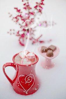 Hot Chocolate, Hot Cocoa, Winter, Snow, Valentine's Day