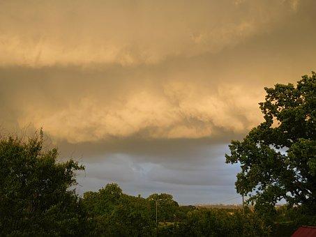 The Cloud Ceiling, Murus, Storm, Summer, Sky, Clouds