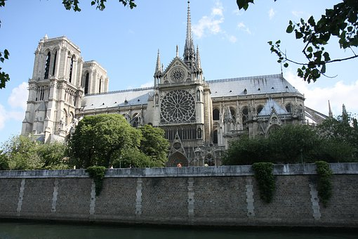 Notredame, Paris, France, Church, Cathedral, Old