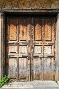 Door, Wood, Wood-fibre Boards, Old, Retro, Closed