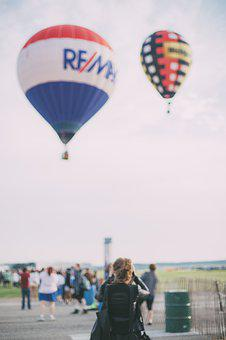 Hot Air Balloon, Crowd, People, Festival, Colorful