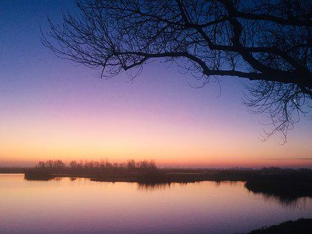 Sunrise, Kleiuren, Purple, Morning