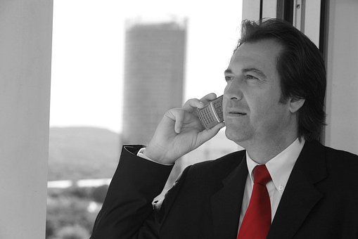 Businessman, Tie, Red, Black And White, Leader